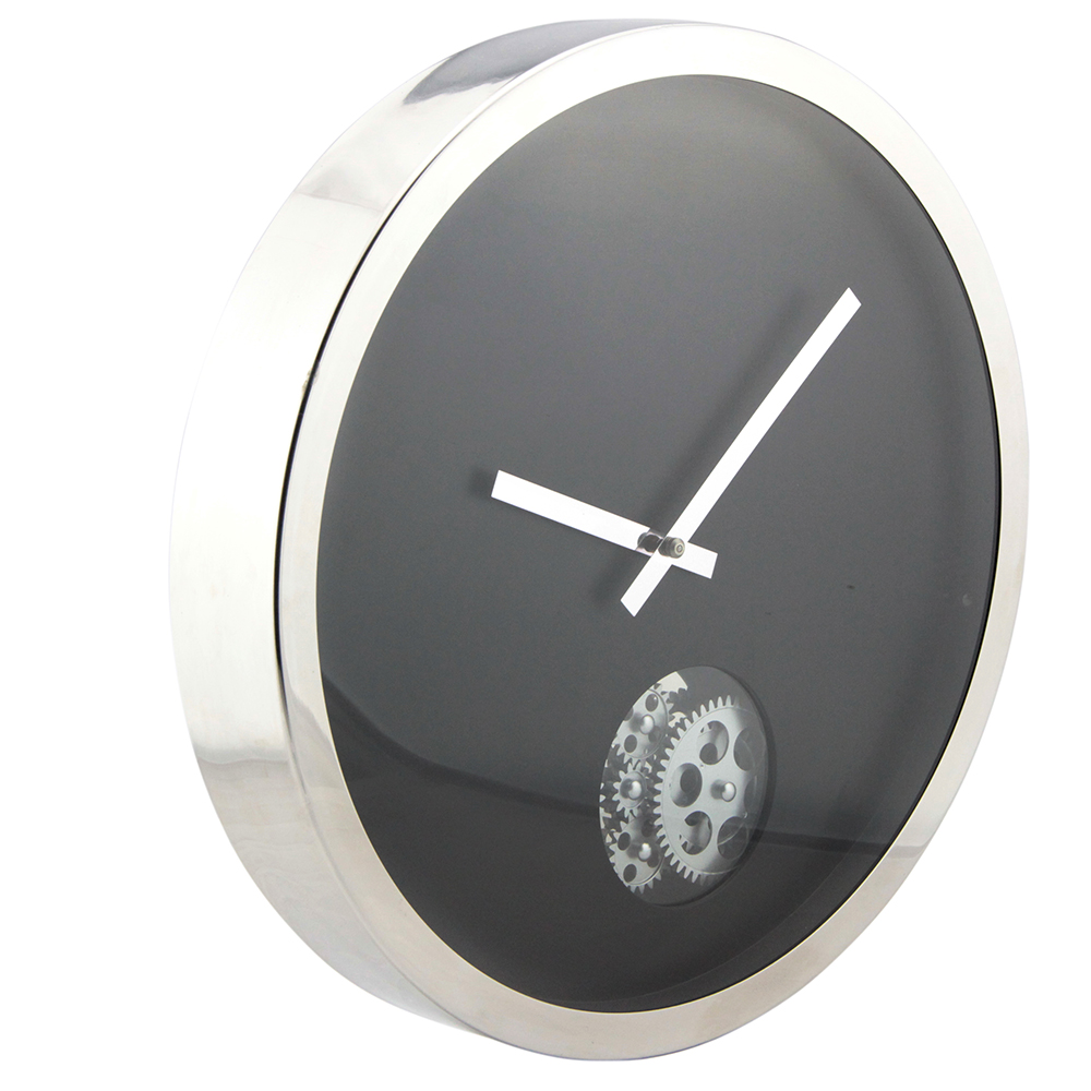 Metal 16-inches Gear Walll Clock With A Circle