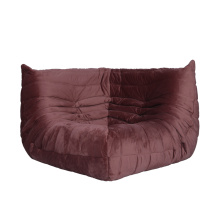 Section d'angle de canapé en tissu Togo