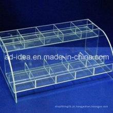 Cremalheira de exposição acrílica prática / mobília acrílica / Exhioition para o cosmético