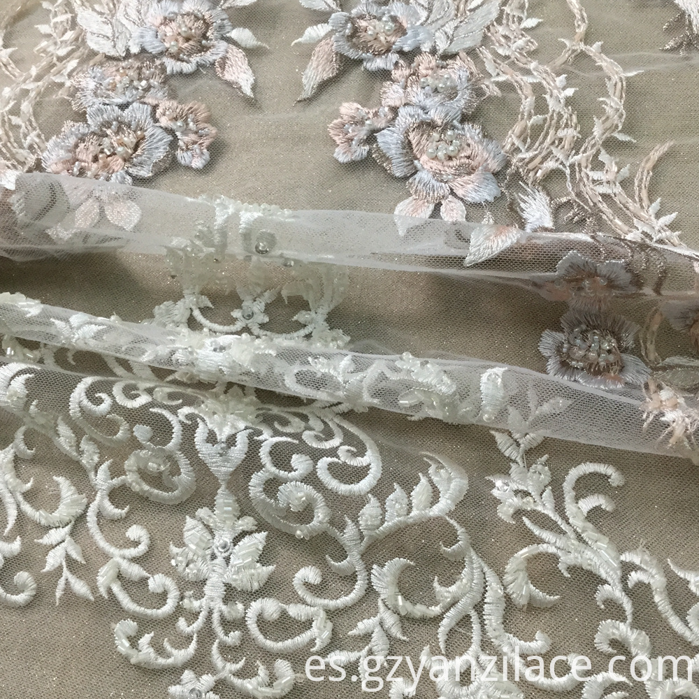 Hand Beaded Bridal Lace