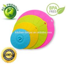 Durable de la microonda cubierta de silicona respetuosa del medio ambiente / tapa de la cubierta del pote del silicón / cubierta de la tapa del silicón