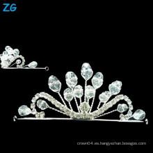 Corona cristalina de la boda de la alta calidad, pequeñas coronas cristalinas de la reina, headpiece cristalino de la boda