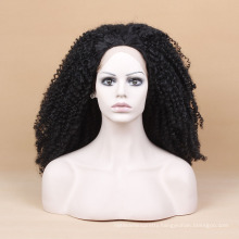 Black Curly Intense Wig Heat Resistant Wig Kinky Curly Lace Front Synthetic Wig