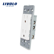 Livolo Стандарт США 15А Розетка 125В без стеклянной панели VL-C5-C2US-11