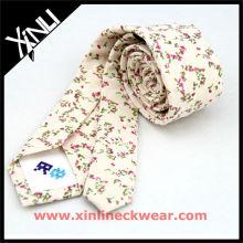 Algodão com flor bonita design personalizado gravatas