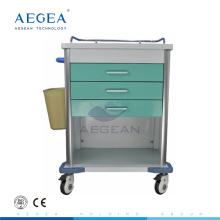 AG-MT034 Fiable médical infirmière mobile patient traitement hôpital chariot pour soins infirmiers