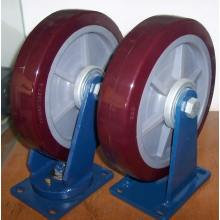"12"" PU Casters (Red)"