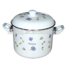 Высокая эмаль запаса горшок ,эмали цветок наклейки посуда и бакелитовая ручка высокая эмаль запаса горшок набор ,эмалированная посуда