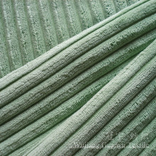 Tecido de poliuretano de pilha 6W corte e nylon veludo para sofá