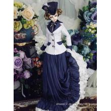 Europa Langes Kleid Isabella für Puppe mit Kugelgelenk