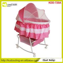 Hersteller NEU Design Voller Schmetterling Moskitonetz Abdeckung Portable Baby Bassinet Schaukelstange Großer Aufbewahrungskorb Rosa Blau