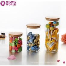 Simple Clear Borosilicate Pyrex Glass Jar For Herbs