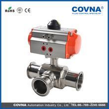 pneumatically air actuated ball valves with GT actuator