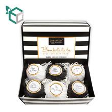 Stripe pattern design Organic Bath Bomb Gift Sets 4 ~6 Pack