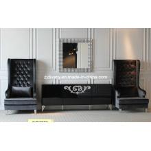 Sofa de loisirs en bois tissu salon Style néoclassique (LS-119)