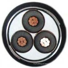 XLPE isolado e PVC blindado Mv cabo de alimentação 6 ~ 35kv