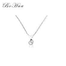 Fashion heart shape gold plated  chain necklace for girl
