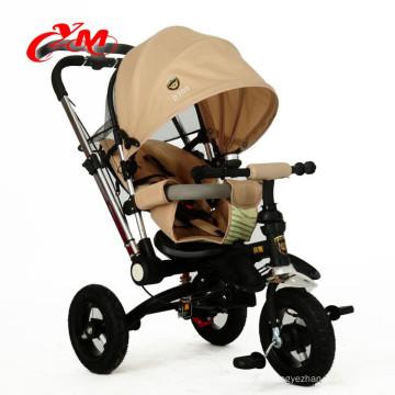 Top qualité 3 roues trike pour les tout-petits 1 an / pliable bébé garçon tricycle 4 en 1 / personnalisé 2016 nouveau bébé tricycle poussette