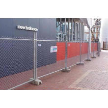 50X50mm Aperture Hot DIP Galvanized Chain Link Temporary Fence Made in China