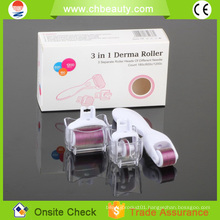 2015 Handsome beauty machine home use 3 in 1 derma roller