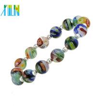 grânulos de millefiori gemstone fazendo pulseiras de jóias