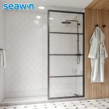 Seawin Stainless Steel Bathroom Tempered Glass Corner Luxury Frame Single Glass Shower Door