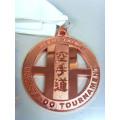 Custom Rectangular Zinc Liga Soft esmalte medalha com fita