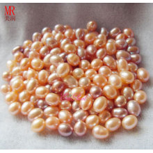 8-9mm Mixed Color Oval Loose Pearls Beads