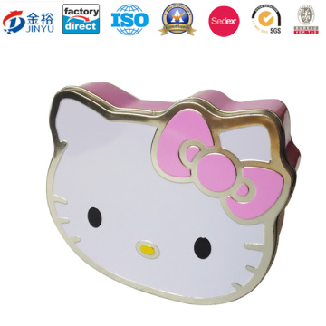 Japanese Carton Kitty Shaped Metal Packaging Box for Chocolate Packaging