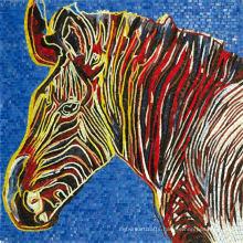 Animal Pattern Art Design Glass Mosaic by Hand-Cut (CFD131)