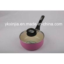 De Buena Calidad De Aluminio De Revestimiento De Cerámica Milk Pot Kitchenware