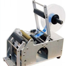 manual adhesive round bottle labeling machine with pvc labels