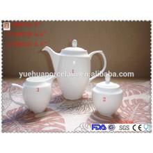 2015 Hot sale elegant ceramic tea pot set with sugar pot milk jug ceramic