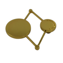 Insignia promocional del logotipo del metal de la ropa del diseño de lujo