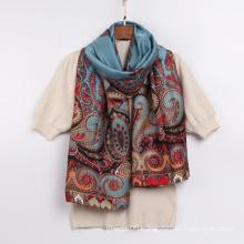 2021 Hot Selling Ladies Shawl High Quality Stylish Cashew Printed Long Silk Tudung Scarf