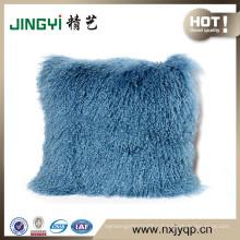 Wholesale Long Hair Tibetan Mongolian Lamb Fur Skin Cushion