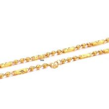 Cobre chapeamento de ouro fino colar de corrente, cubano link correntes de ouro jóias