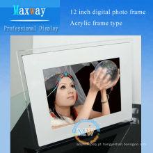 multi funcional frame acrílico moldura digital 12