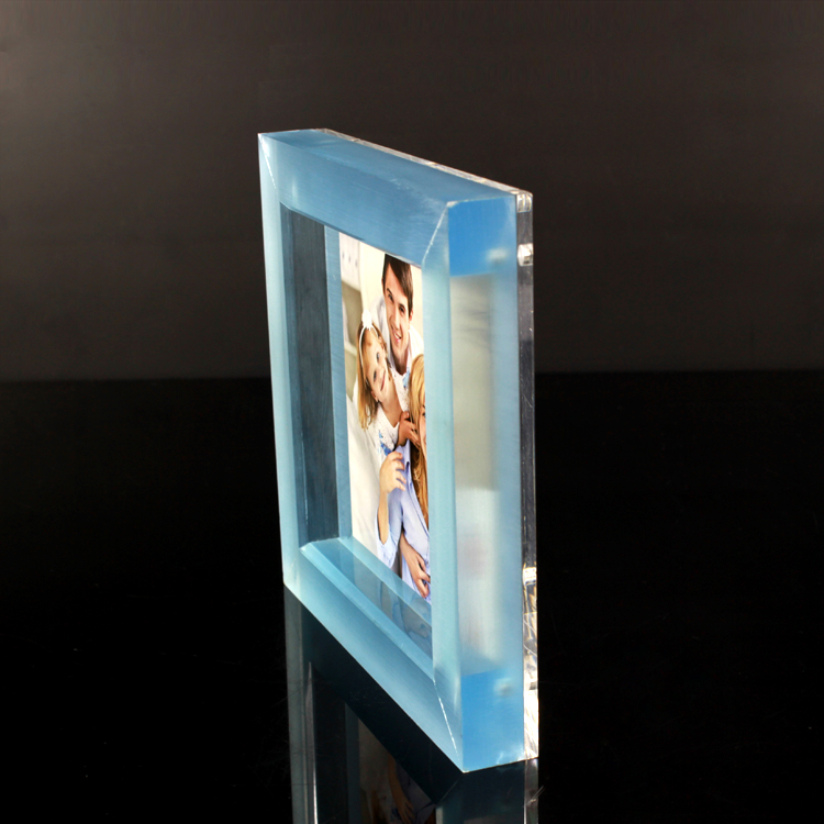 Clear Block Photo Frame