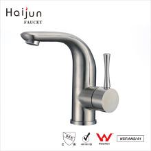Haijun 2017 Torneiras de lavatório de aço inoxidável termostático escovado simples e 304