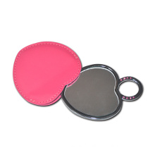 Promotional Lady PU Leather Compact Make up Mirror
