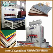 SCL / horizontale hydraulische Presse Maschine / Zylinder Wärme Druck Maschine / kurze Zyklus Laminat Maschine