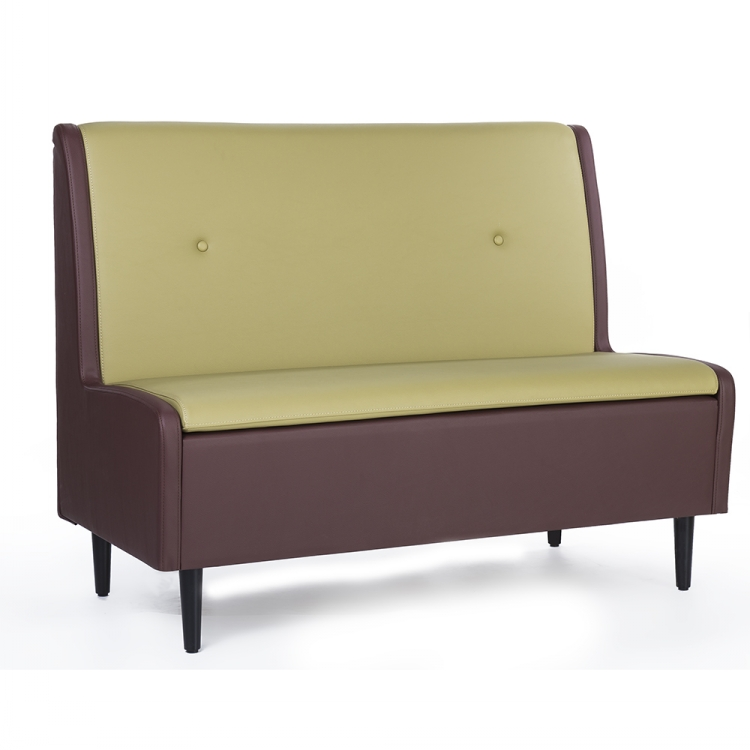 Modern Pu Leather Fabric Restaurant Sofa Wood Booth
