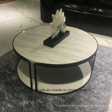 Round Tyep Marble Top Tea Table