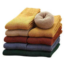Winter hot sale new thick warm dark wool socks solid colors women snow socks