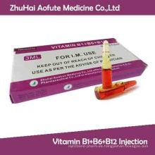 Inyección de Vitamina B1 + B6 + B12