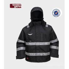 безопасности светоотражающие водонепроницаемый рабочий износ Оксфорд зимняя куртка с капюшоном