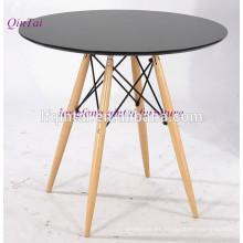 Mesa de comedor de buffet de MDF con patas de madera de playa