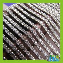 Prata & banhado a ouro cristal de vidro Material ss6 / ss10 / ss16 Rhinestone Cup Cadeia de aparamento, Close up Crystal Cup Corrente de corte