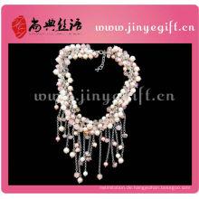 Fashion Handmade Initial Schmuck farbige Quaste Perlenkette